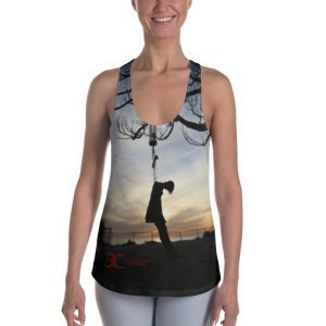 """Sunset Silhouette"" Woman's Suicide Tank Top"