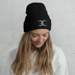 Embrace Chaos Black Beanie with Grey Logo